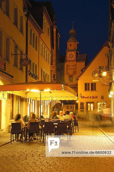 Europa Bayern Franken Deutschland Rothenburg ob der Tauber