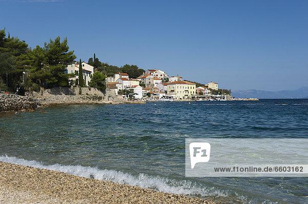 Europa Strand Dorf angeln Adriatisches Meer Adria Kroatien