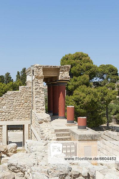 Europa Ausgrabungsstätte Nachbereitung Kreta Griechenland