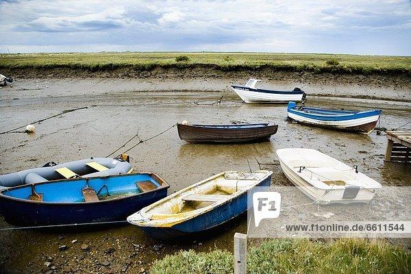 Mündung  Gewässer  klein  Boot  Sumpf  Schlamm
