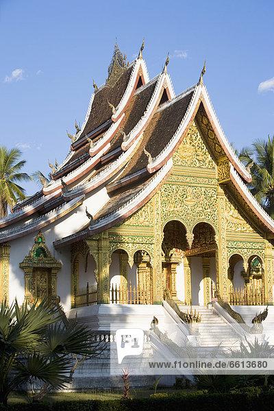 Boden  Fußboden  Fußböden  Museum  Monarchie  Palast  Schloß  Schlösser  innerhalb  Luang Prabang