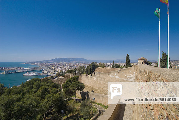 Stadtansicht  Stadtansichten  Wand  Hintergrund  Andalusien  Malaga  Spanien