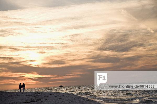Strand  Sonnenuntergang  Bohne  zeigen