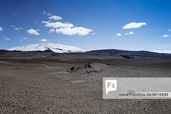 Sprengisandur mit Hekla  Hofsvellir  Südisland  Island  Europa