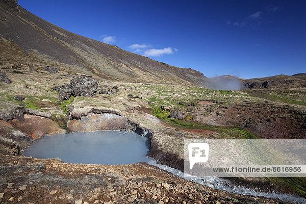 Thermalgebiet Ölfusdalur und Reykjadalur  Hveragerdi  Südisland  Island  Europa