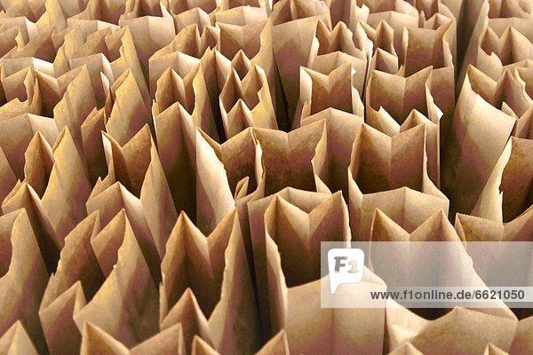 Papier  Tasche  braun