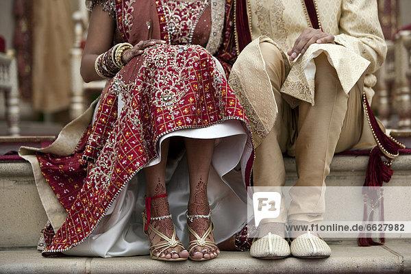 Braut  Bräutigam  Tradition  Kleidung  Indianer