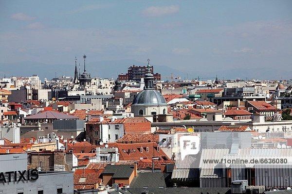 Panorama  Madrid  Hauptstadt  Europa  Großstadt  hoch  oben  Büro  Ansicht  Mittelpunkt  Spanien