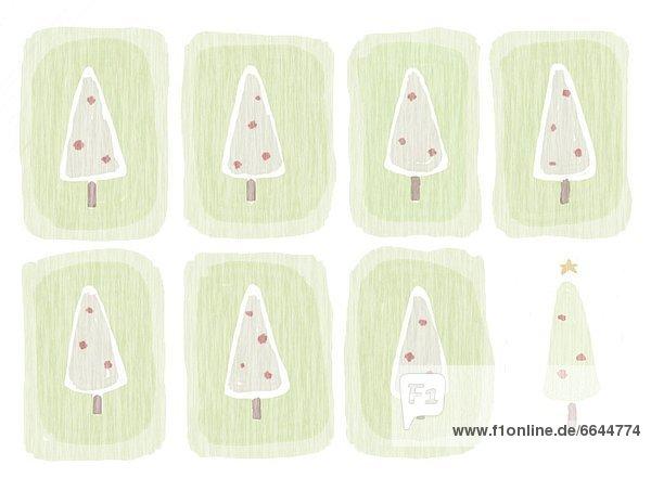 Baum  Illustration  Weihnachten