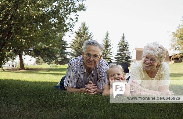 Großeltern  Enkeltochter