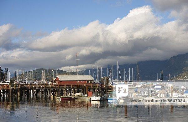 Boats Docked At A Harbor