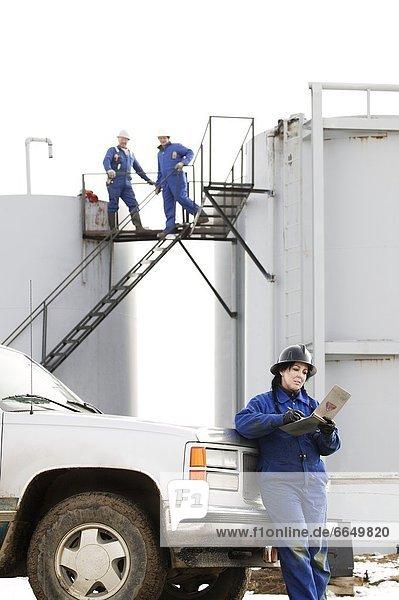 arbeiten Öl Raffinerie