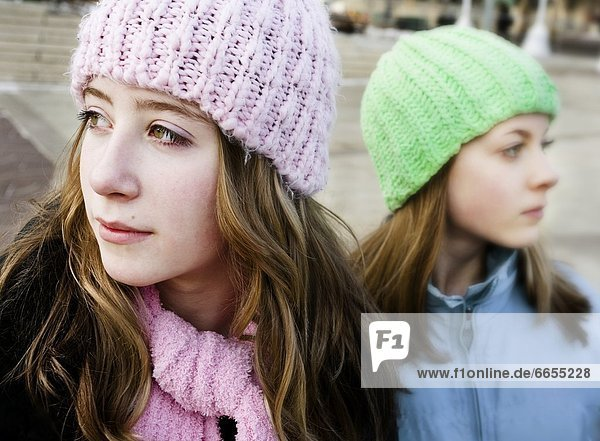 Two Girls In Toques