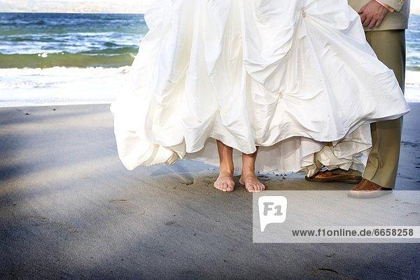 Braut  Bräutigam  Strand