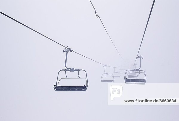 Stuhl  heben  Nebel  Ski