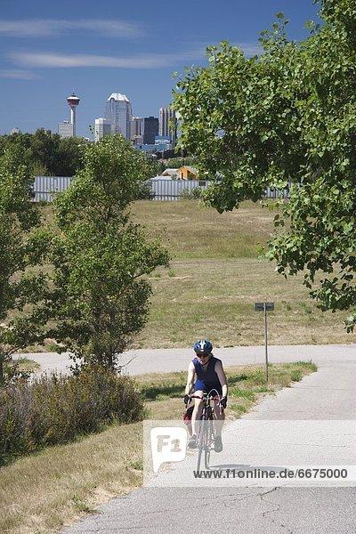 Frau  Weg  Alberta  Calgary  Kanada