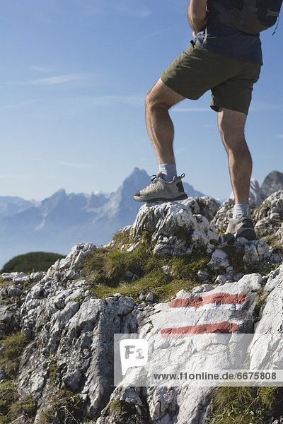 Felsbrocken  folgen  wandern  Feuer  Österreich  Salzburger Land