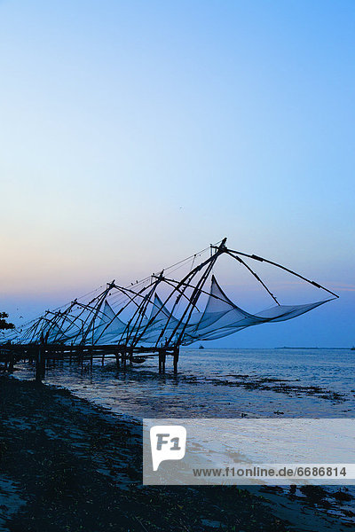 Fishing Nets on an Indian Coast