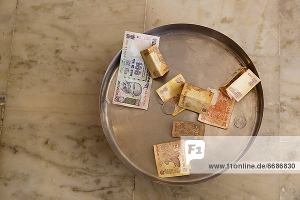 Indian Money in a Dish