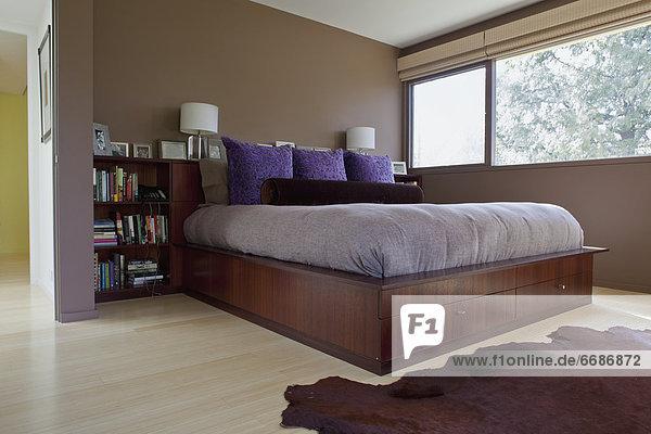 Schlafzimmer Innenaufnahme modern
