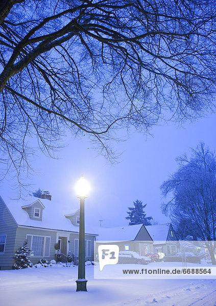 Winter Straße Nachbarschaft