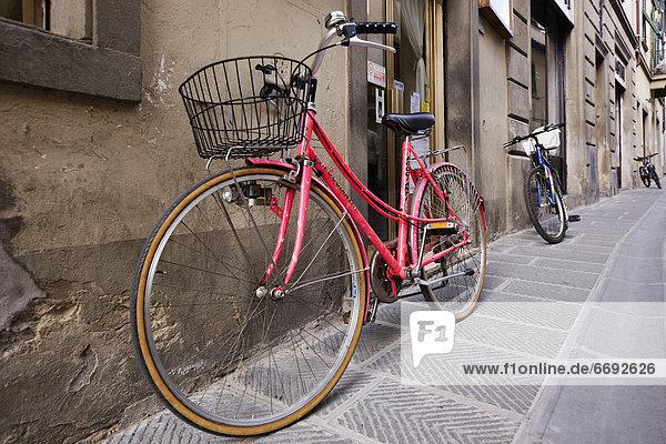 Straße parken Fahrrad Rad
