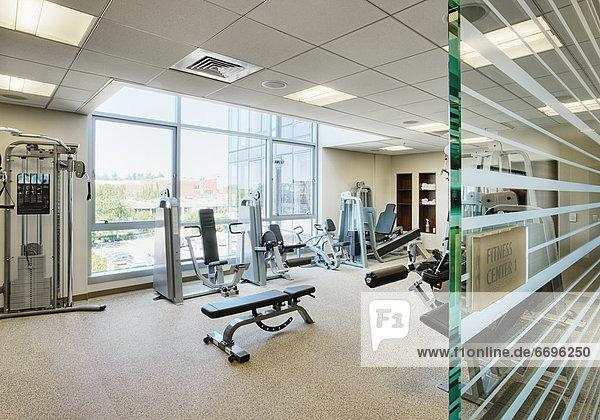 Fitness-Studio  Laufband