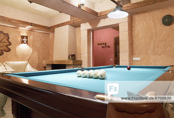 Room With a Billiard Table
