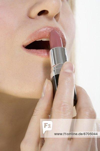 Lippenstift Close-up mund