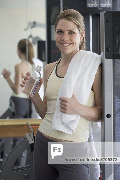 Fitnesstraining  Portrait  Frau