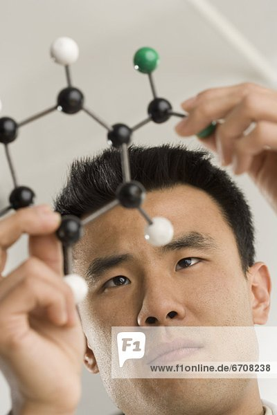 Wissenschaftler  Gebäude  Molekül  Untersuchung
