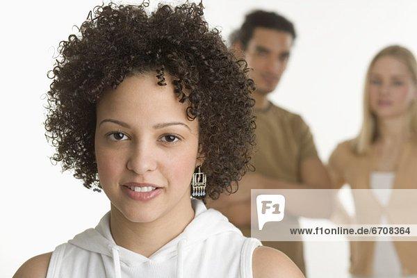 Portrait  Frau  Freundschaft  2  jung