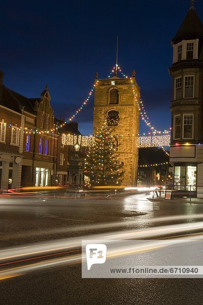 'Old Town Decorated At Christmas  Night
