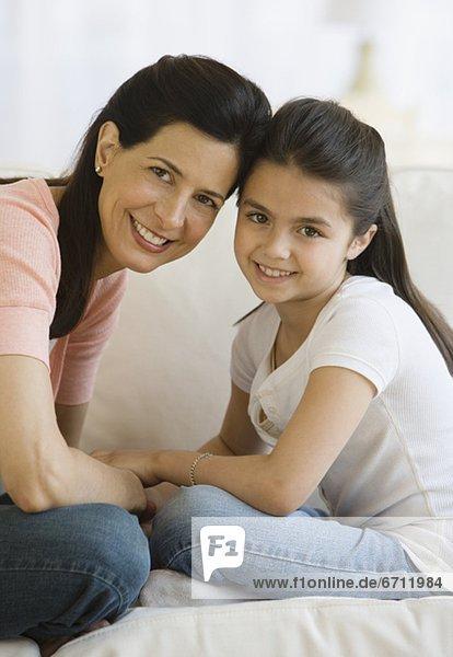 berühren  Tochter  Mutter - Mensch