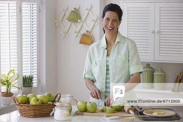Frau Produktion Apfel