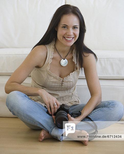 Frau  Boden  Fußboden  Fußböden  halten
