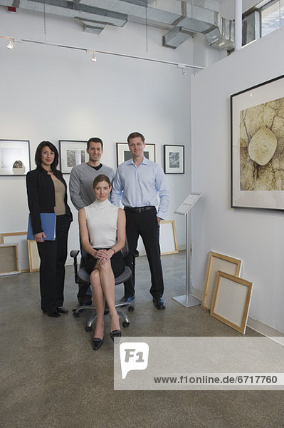Portrait  Angestellter  Kunst  Galerie