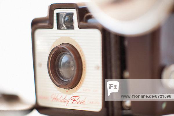 Eine altmodische Kamera