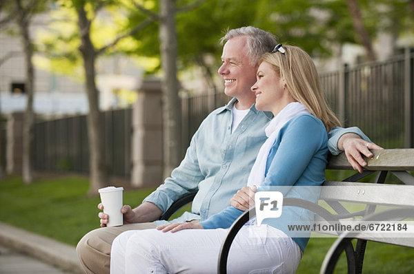 A couple at a park A couple at a park