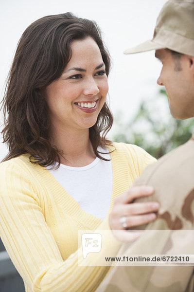 Frau  Militär  Offizier