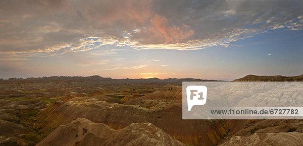 Vereinigte Staaten von Amerika  USA  Berg  Sonnenaufgang  Steppe  South Dakota