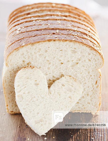 Angeschnittene Brote