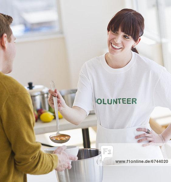 Freiheit  Suppe  Freiwilliger