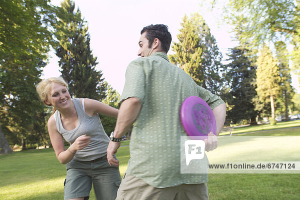 Frisbee  spielen