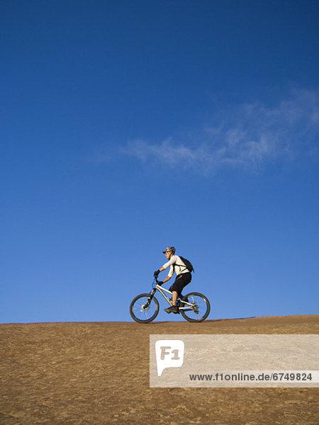 Mensch Fahrrad Rad Riding Mountain National Park
