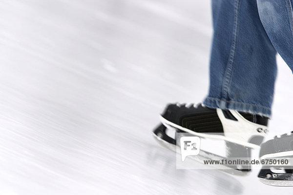 Rollschuh  Bewegung  Eis