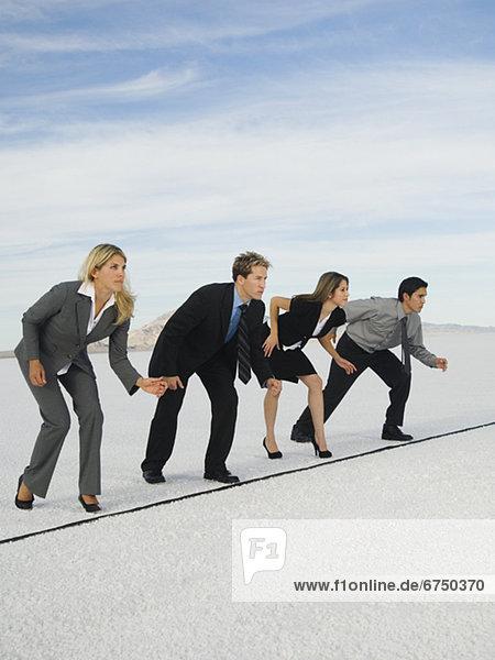 Wirtschaftsperson Vereinigte Staaten von Amerika USA Linie Salztonebene Start