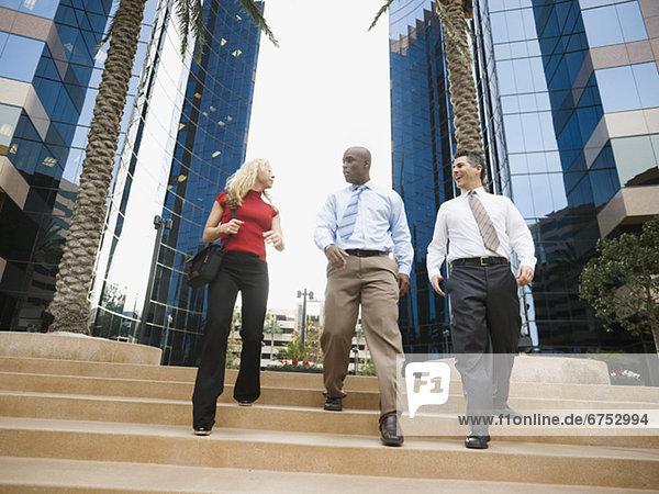 Mensch arbeiten Menschen Business verlassen