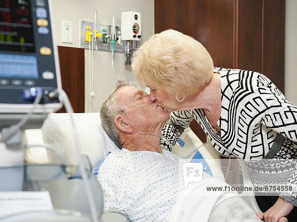 Senior people in hospital