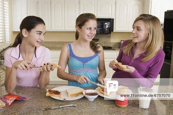 Produktion  Sandwich  Mädchen  Jugendlicher